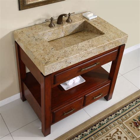 Granite Countertops For Bathroom Vanities Bathroom Vanities With Tops Choosing The Right Countertop Material Traba Homes
