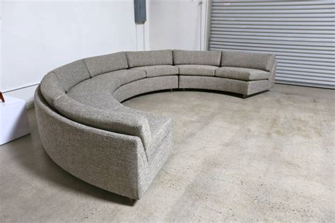 circle sofa circular sectional sofa by milo baughman at 1stdibs