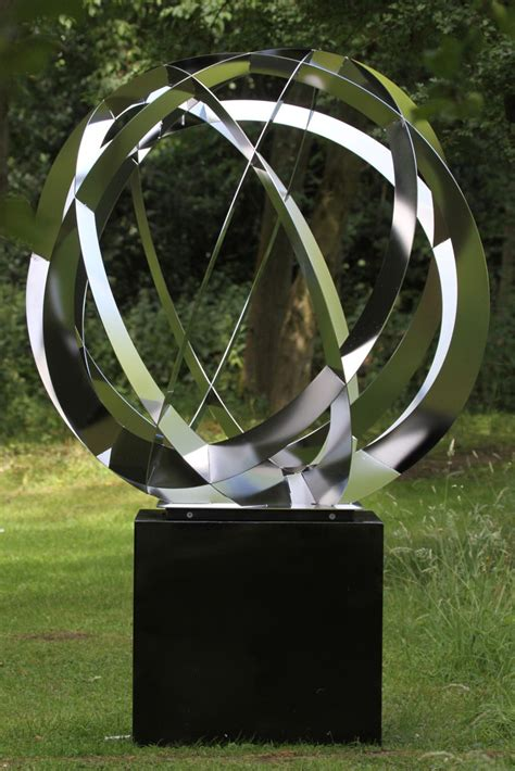 synergy iv contemporary stainless steel large garden sculpture s s shop