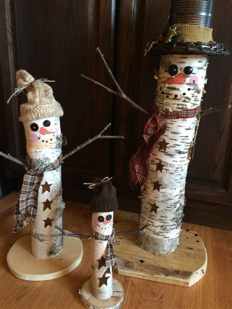 birch snowmen christmas crafts xmas crafts christmas