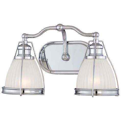 Minka Lavery 2 Light Chrome Bathroom Vanity Light 5792 77 Minka Lavery Bathroom Lighting