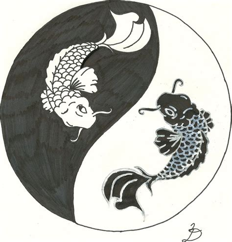 yin yang fish tattoos designs koi yin yang by relentlessart on deviantart