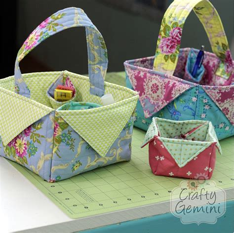 pattern for fabric easter basket these baskets are so quick and easy to make quilting digest