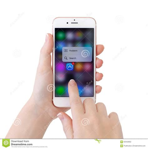 iphone 6s gold with 3d touch and apple editorial photography image of