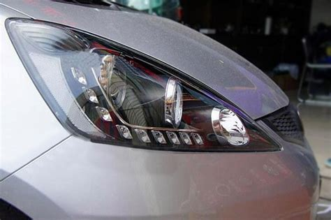 Drl Jazz 2012 headlight led drl led hid for honda fit jazz