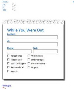 phone message template on outlook 2013
