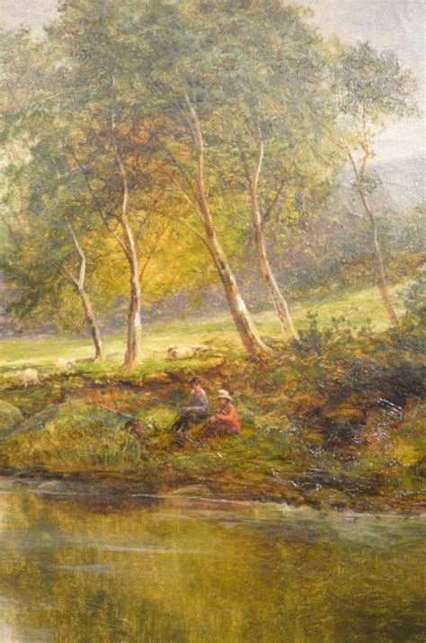 beautiful 19th century on canvas of country