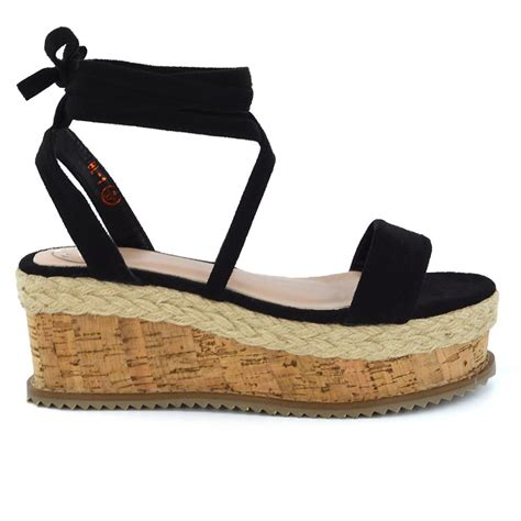 lace up sandal heels womens lace up wedge heel sandal espadrilles