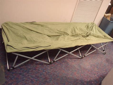 folding single air mattress stand  collectibles