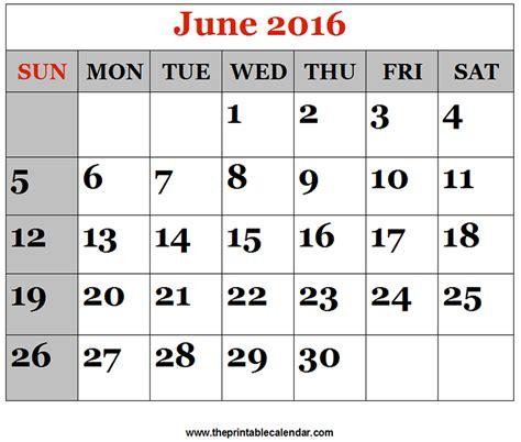 june 2016 calendar printable org june 2016 printable calendars