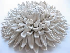 Ceramic Planters Large by Polymer Flower Sculptures And Tiles By Angela Schwer