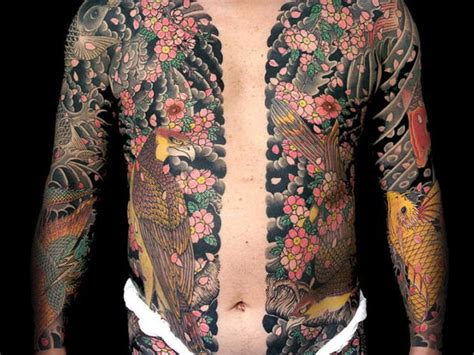 japanese bodysuit tattoo designs yakuza design busbones
