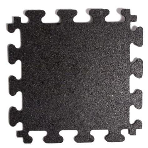 fanmats titan tile black 18 in x 18 in rubber tile
