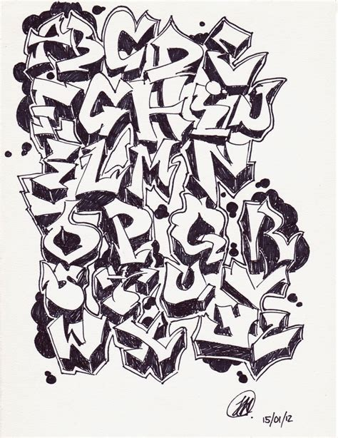 graffiti alphabet collection drawing collection