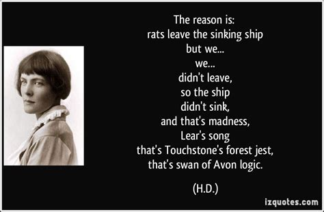 save a sinking ship quotes the reason is rats leave the sinking ship but we we