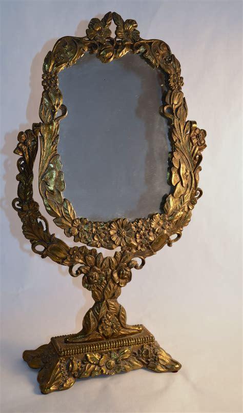 Antique Vanity With Mirror by Vintage Ornate Antique Gold Vanity Mirror