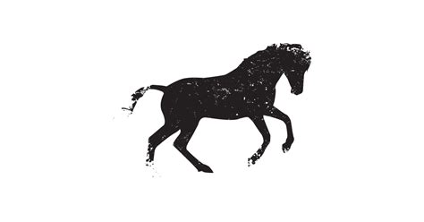 black wild horse  vector  png  graphic cave