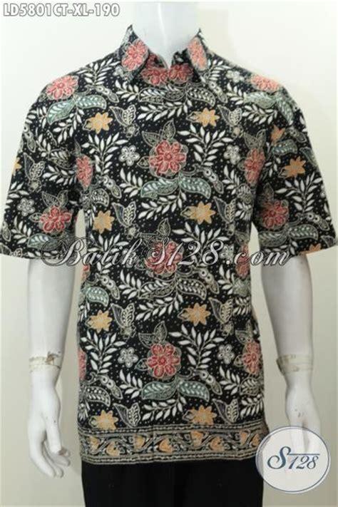 Baju Lelaki Bunga hem batik motif bunga untuk lelaki dewasa baju batik dasar hitam lengan pendek ukuran xl proses