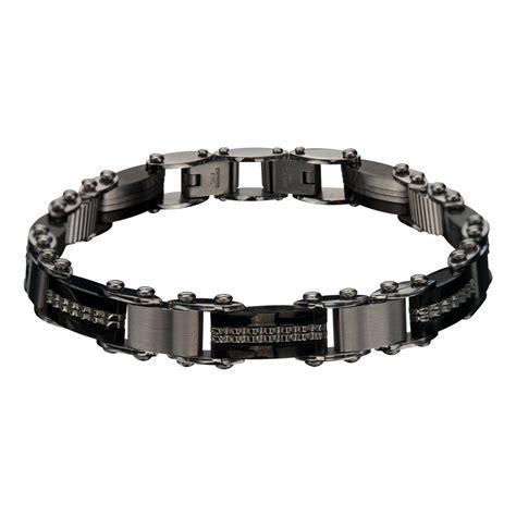 inox jewelry s stainless steel bar black ip
