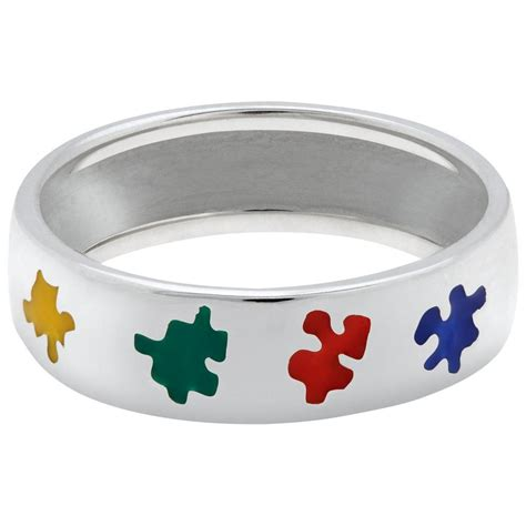 puzzle autism awareness sterling ring the autism site