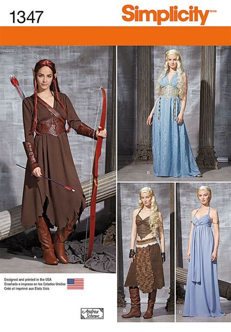 pattern for daenerys dress simplicity 1347 adult costume sewing pattern includes