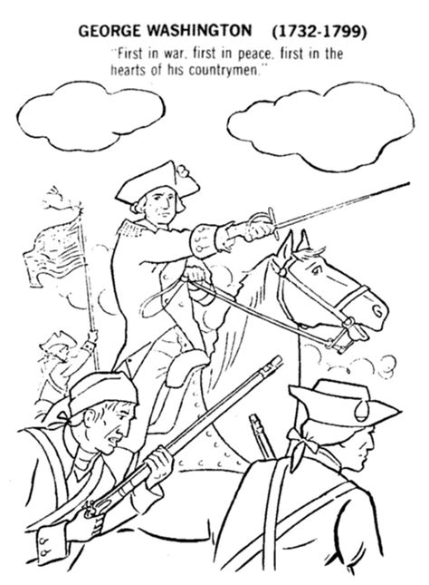 printable coloring pages george washington printable george washington coloringpage