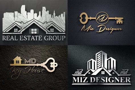unique real estate logo design  angelinamike