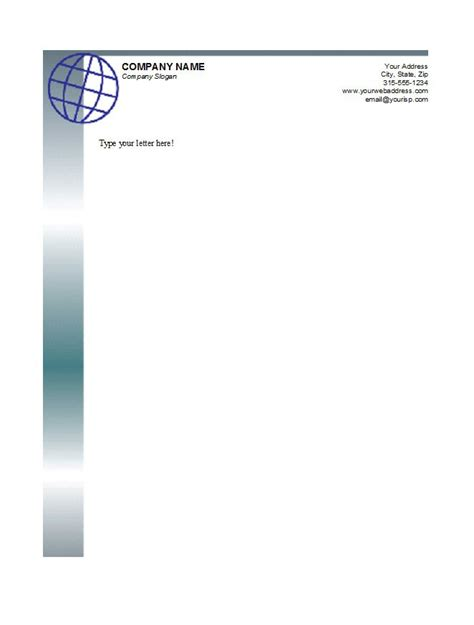 business letterhead template with logo 45 free letterhead templates exles company