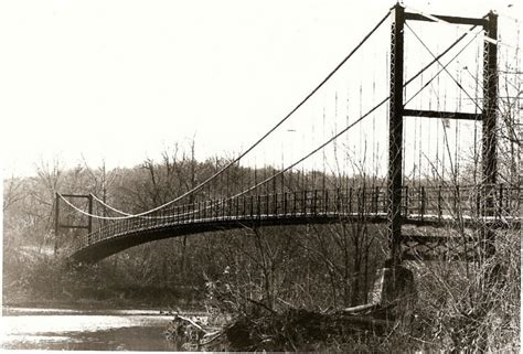 swinging bridges missouri bridges page miller county museum historical society