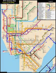 Metro Map New York by Www Nycsubway Org New York City Subway Route Map By