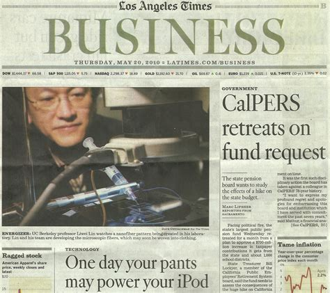 la times business section liwei lin on line report