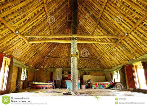 interior  traditional house navala village viti levu
