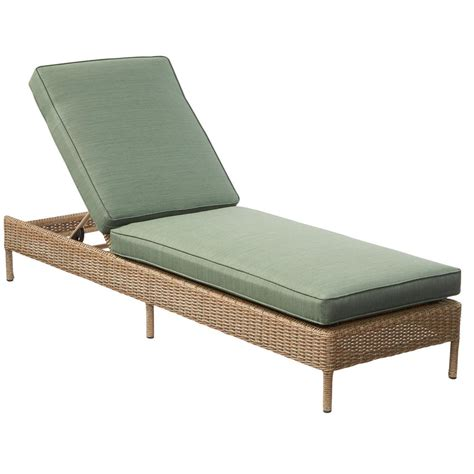 Chaise Lounge Chair Cushions Outdoor by Hton Bay Lemon Grove Wicker Outdoor Chaise Lounge With