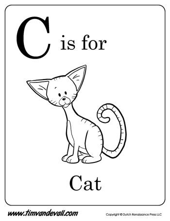 alphabet letters to print c is for cat printable tim s printables 1073