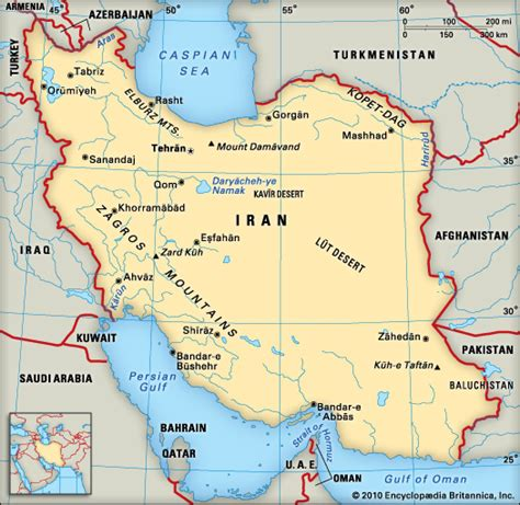 geographical map of iran iran encyclopedia children s homework help