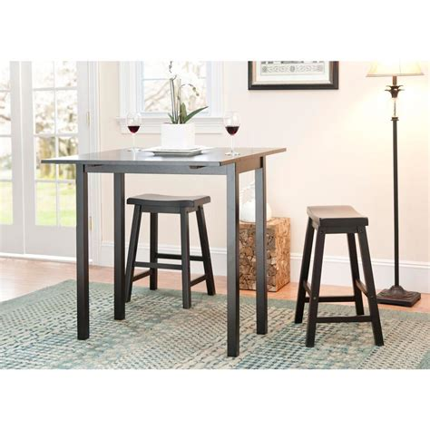 Espresso Bar Table Safavieh Graham 3 Espresso Bar Table Set Amh8502a The Home Depot