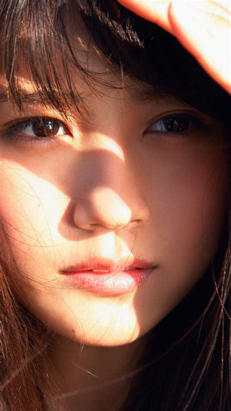 hh arimura kasumi cute japan girl face summer wallpaper