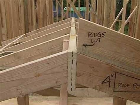 frame  roof building  shed framing