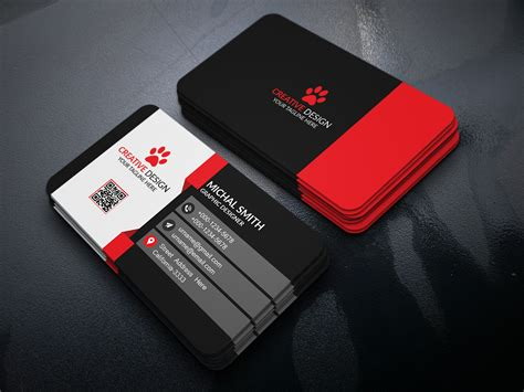 behance free business card template business card design free psd on behance