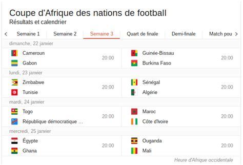 Can Calendrier 2013 Can 2017 Au Gabon R 233 Sultats De La Programmation Des Matchs