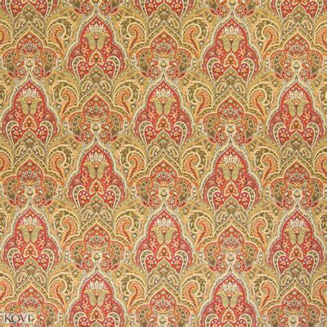 upholstery fabric orlando harvest orange floral prints upholstery fabric