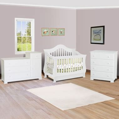 Million Dollar Baby Ashbury Crib White by Million Dollar Baby 3 Nursery Set Ashbury