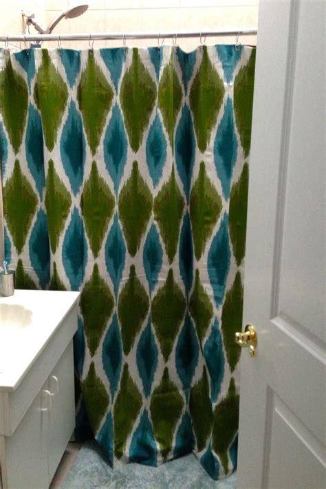 target blue ikat shower curtain soozone