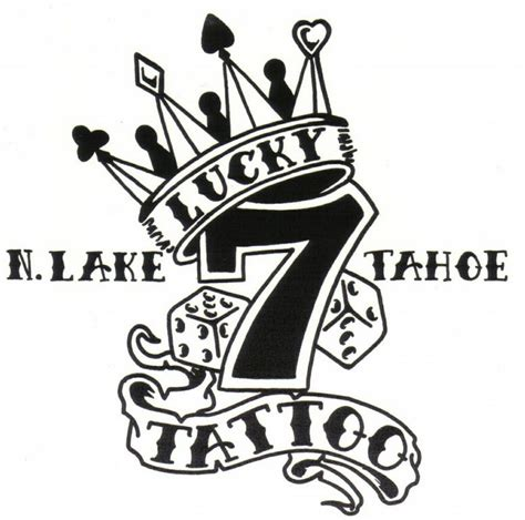 seven tattoo designs lucky 7 logo with crown design jpeg 776 215 768