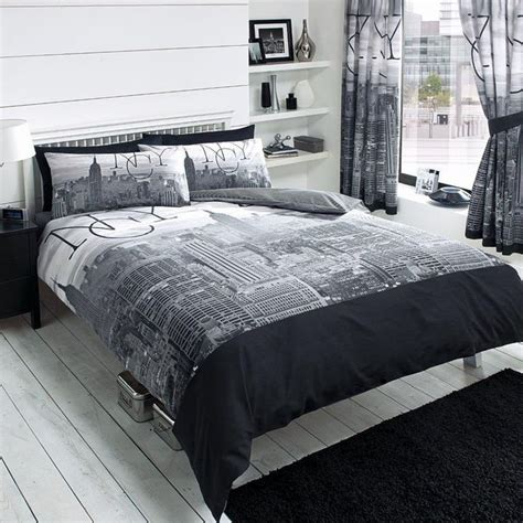 Nyc Comforter Set by New York City Skyline Duvet Cover Quilt Cover Bedding