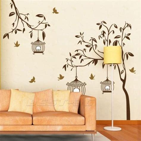 stickers mur chambre sticker autocollant mural arbre oiseaux d 233 co mur maison chambre enfant playroom