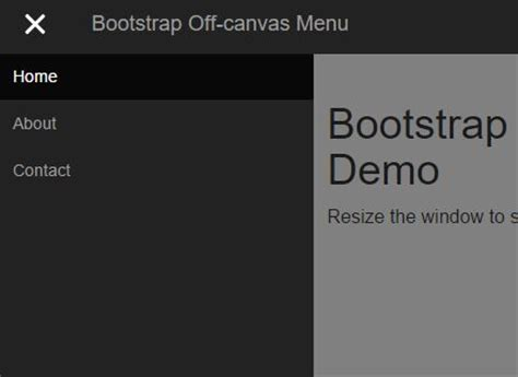 tutorial bootstrap offcanvas off canvas push menu jquery plugin for bootstrap free