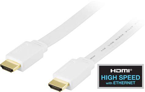 Kabel Hdmi V1 4 Flat 3m deltaco 19 hdmikabel flat ethernet priss 248 k gir deg
