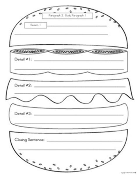 burger writing template the world s catalog of ideas