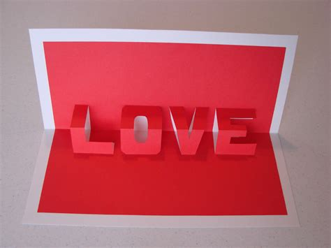 3d I You Pop Up Card Template by Pop Up Word Card Craft Crossing